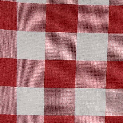 "RED AND WHITE CHECKERED TABLE RUNNER - 13"" x 72"" - CHECKER PATTERN TABLE RUNNERS"