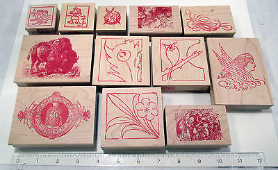 Huge Lot 12 Different 1997 Red Castle Antique Memories Rubber Stamps NEW NOS!
