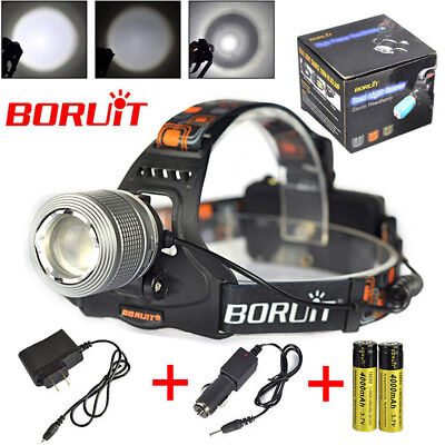 13000Lm 3xXM-L T6 LED Headlamp Rechargeable Headlight Head Torch Lamp+AU Charger