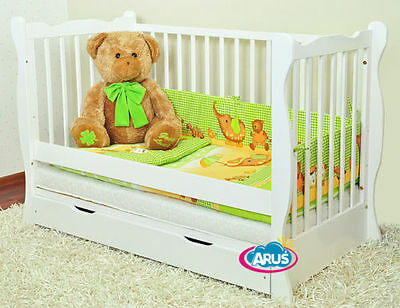 Junior bed/cot with drawer MONIKA colours + choice to mattress/best baby cribs