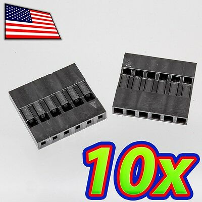 [10x] Dupont  Wire Jumper Pin Header Connector Housing - 1x6 - Male / Female