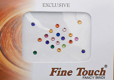 Bindi bijou de peau front Bollywood faux piercing multicolore 3 mm INF D 1582