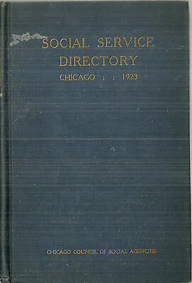 1923 Social Service Directory for Chicago Area