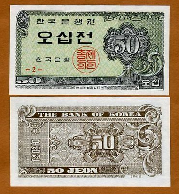 South Korea, 50 Jeon,  1962, P-29, UNC