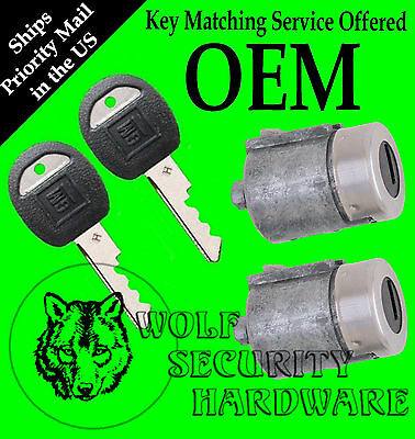 Chevy GMC C K Series Pickup 88-94 OEM Door Lock Key Cylinder Pair With 2 Keys
