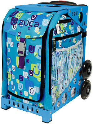 "Zuca ""Be Zappy"" Insert Bag with Blue Frame"