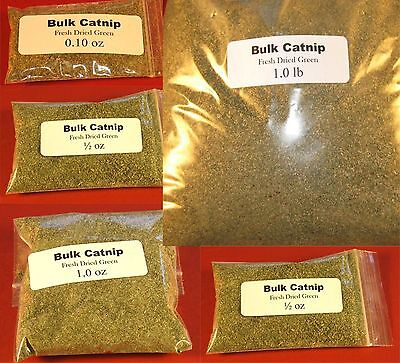 Catnip Bulk (0.10 oz-1 lb) Grown in USA - FRESH-DRIED GREEN - Very Potent