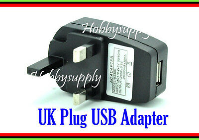 Portable USB Adapter AC110-240V DC5V 500mAh UK Plug charger for travelers x 1