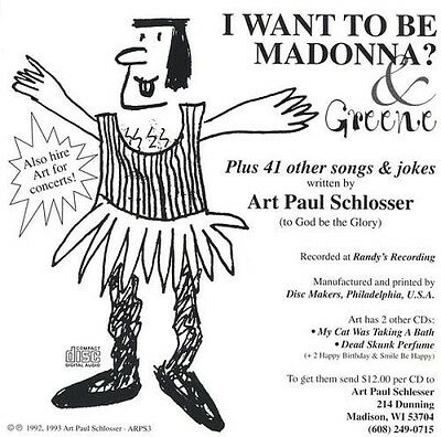 Art Paul Schlosser - I Want to Be Madonna [New CD]