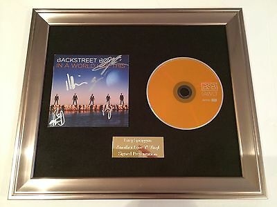 Signed/autographed Backstreet Boys -In A World Like This Cd Framed Presentation.