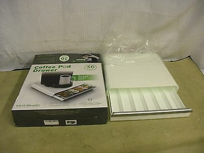 White Coffee Pod Drawer by Mind Reader LOT 312A