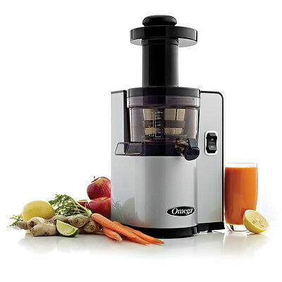 Omega Vert Square Upright Juicer- Vsj843Qs- Wheatgrass, Fruit, Vegetable- Silver