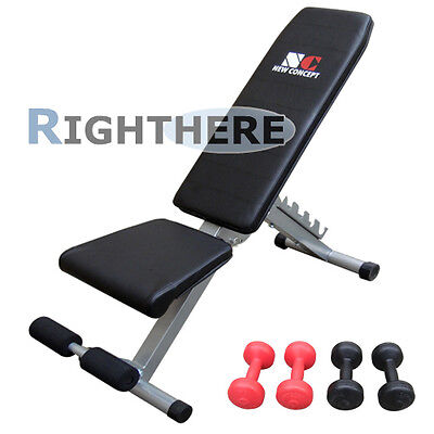 New Sit Up Bench Fitness Stomach Shape Home Sport Gym Free Dumbbell Adjustable
