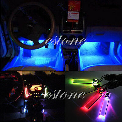 12V 4 in 1 Car Charge Decoration Floor Decorative Light Lamp Colors LED Interior