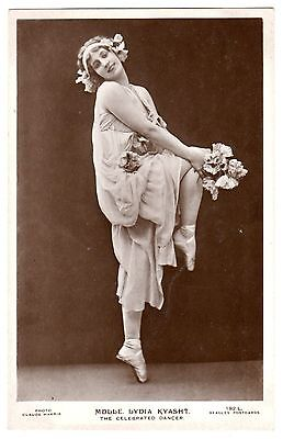 Original Postcard Russian Ballet Lydia Kyasht Dance With Poppies
