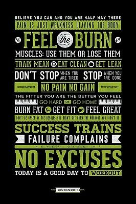 Gym Motivational Maxi Poster - 61cm x 91.5cm PP33386 - 600