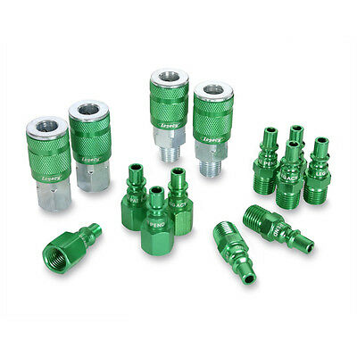Legacy A71458B Type B ARO 14Pc 1/4-inch Coupler and Plug Kit - Green