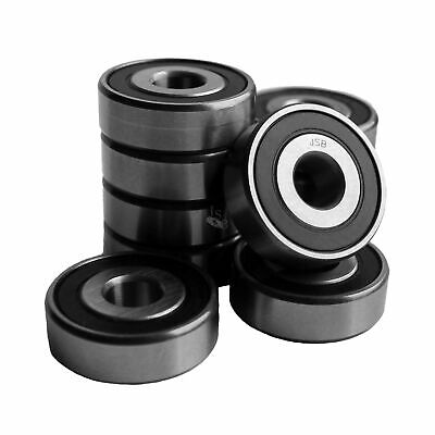 (Qty.10) 6301-2RS two side rubber seals bearing 6301-rs ball bearings 6301 rs