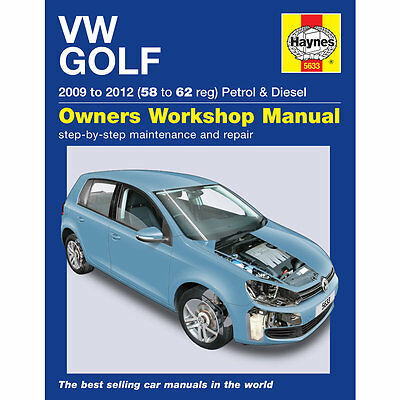 HAYNES MANUAL Vw Golf Mk6 1.4 Petrol 1.6 2.0 Diesel (58 To 62 Reg) 2009-12