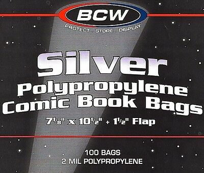 1000 Silver Comic Bags and Boards Acid Free BCW Archival Comic Book Storage