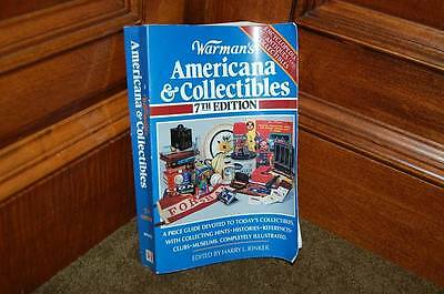 WARMAN'S Americana & Collectibles 7th Edition Paperback Book Illustrated Guide