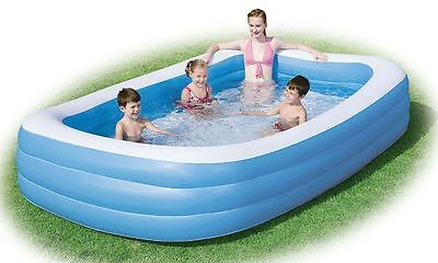 Bestway Inflatable Family Lounge Large Paddling Swimming Garden Summer Pool 10ft