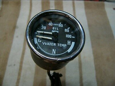 WATER TEMPERATURE AND OIL PRESSURE, SMITHS GAUGE FOR BMC CARS, ETC.