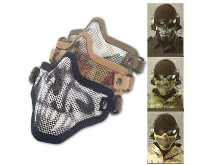 Cool Half Face Metal Mesh Protective Tactical Airsoft Military Mask Protector JJ