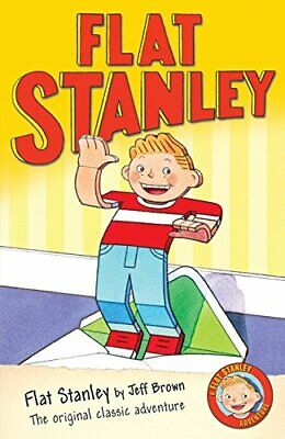 Flat Stanley by Brown, Jeff Paperback Book The Cheap Fast Free Post