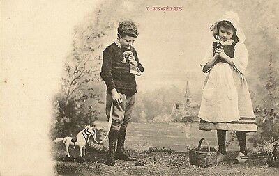 Carte Postale Fantaisie L'angelus Enfant - Bergeret Nancy
