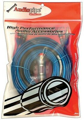 Audiopipe BMS1500X Amp Wiring Kit 8 Ga.1500Watts W/RCA Cables