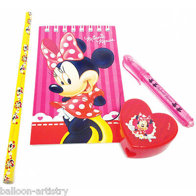 20 pack Disney Minnie Mouse Classic Red Stationery Favours Loot bag filler Gifts