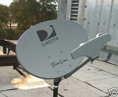 Directv 5 Lnb Slimline Dish Kaku Swm Sl5S Hd Short Roof Stub Foot 8Way 21V Power