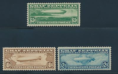 #C13-C15 Vf+ Og Nh Complete Set/3 #C14 Small Red Handstamp Cv $1,900 Wl6782 Jb16