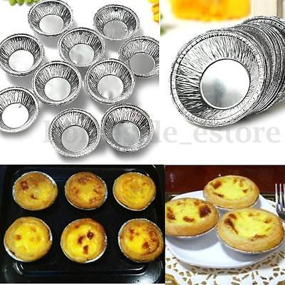 125pcs Disposable Aluminum Round Foil Baking Cookie Muffin Cupcake Egg Tart Mold