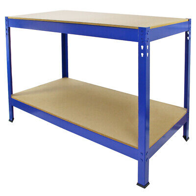 Garage Workbench DIY Garden Work Tool Bench Heavy Duty Steel Workbenches Shed