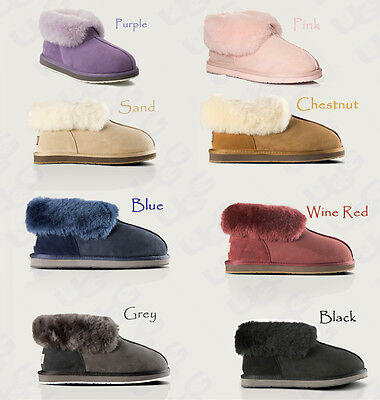 OZLANA New Australian Sheepskin UGG Women/Men/Unisex indoor/outdoor Slipper shoe