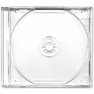 100 X Four Square Media Brand New CD Jewel 10.4mm Cases for 1 Disc Clear Tray