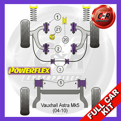 Opel Astra MK5 - H (04-10) 1 Piece Fr ARB Bush 2.0L incl VXR Powerflex Full Kit