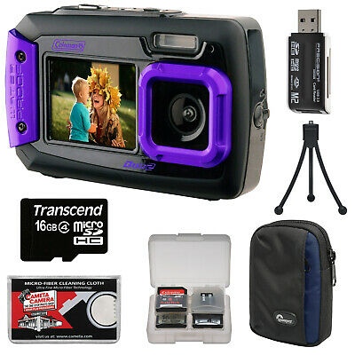 Coleman Duo 2V9WP Dual Screen Shock & Waterproof 20MP Digital Camera Kit Purple