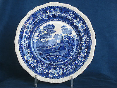 Antique Copeland Spode Tower Pattern Gadroon Border Luncheon Plate c.1886
