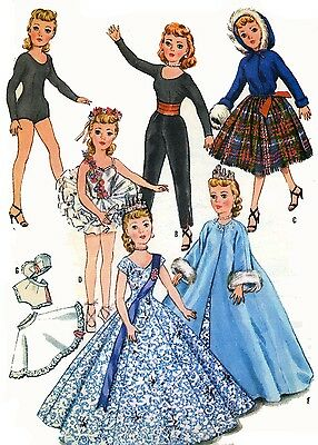 Vintage Doll Clothes PATTERN 2255 for 10 in Revlon Cindy Missy Toni by Sweet Sue