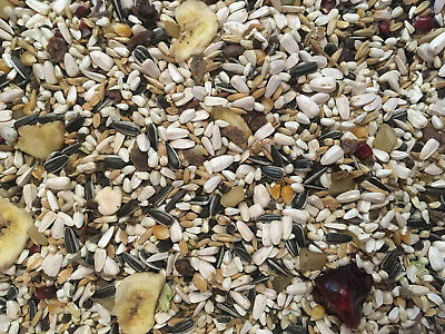Parrot Food - Tropical Mix for Caged Birds 12.5Kg - with Fruit, Chilli & Seeds