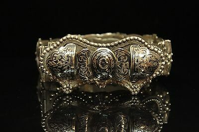 Antique Original Perfect Hand Made Silver Niello Ottoman Perfect Belt