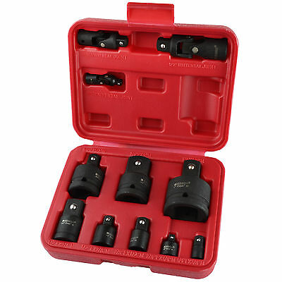 Impact Socket Adaptor Step Up Reducer And Universal Joint Set 11pc BERGEN AT88