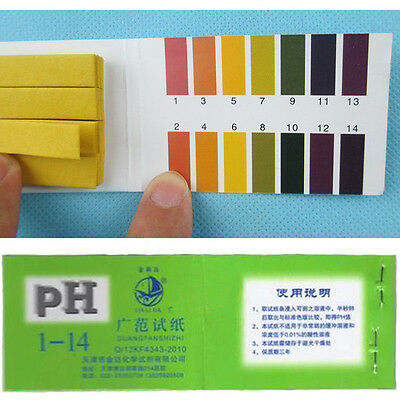 Great Universal  Indicator Test Strips Paper  BODY WATER SOIL FOOD 80x 1-14 pH