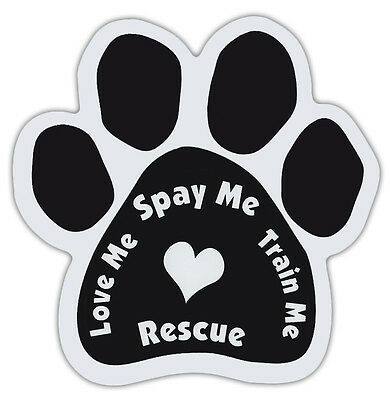 Who Rescued Who Spanish Dogs Dog Paw Shaped Magnets QUIEN RESCATO A QUIEN