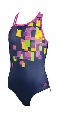 Zoggs Lennox Crossback Girls Swimsuit Swimming Costume 5449142