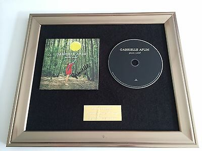 Signed/Autographed Gabrielle Aplin - Panic Cord Framed Cd Presentation. Rare