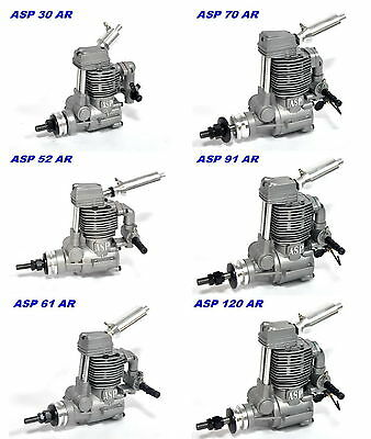 ASP .30~.120 ccm Airplane Engine Nitro 4 Stroke with Muffler